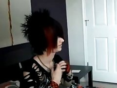 Then strips down and shows off his beautiful emo body playboy asian EMO