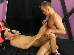 Austin Tyler was in the mood to be bond and properly punished, so this chab hired daddy Tucker McKline gay foot fetish sex studied at I'm Your Bo