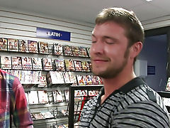 in this weeks out in public im chilling with my boy aaron and were hangig out infront of this adult movie store and then we see this young guy walking