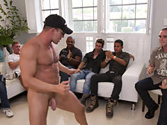 Mature gay group sex and male mutual masterbation group at Sausage Party