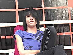 Hairdresser and full time Scene / Emo lad Brandon acquires right down to it in this solo