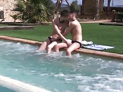 Gay twink hand and blow jobs and bound and...