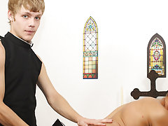 Spanked on the booty with that heavy tome, Blade is quickly ready for redemption, opening up his reddened ass for Anthony's raw scepter to sink i