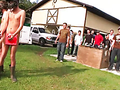 The 3 winners get their rewards in the horse stable, and ooohhhh what a bunch of supreme prizes. Dildo in the ass, tugging off while a pony watches, a