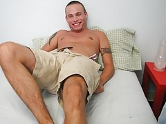 Mr. Hand has some fun surprises laid out for Cory in this jerk session harm in masturbation for men