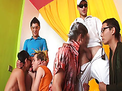 Group masturbation male and support groups for men with penis at Crazy Party Boys