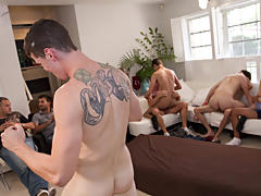Hold him down ass fucking gay group sex...
