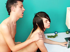 Guy kissing in the toilet and gay teens...