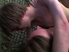 A must-see group sex andnot gay teen at Boys Double Trouble