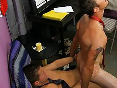 Twink cries while being fucked and huge black big gay rough dick at My Gay Boss