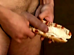One lad sucks his mate's dick as soon as he's pulled out of the other lad's asshole, tasting the ass juice and cum on it, before this s