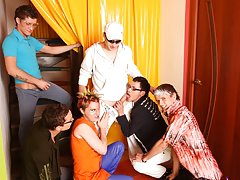 Group gay porn fucking and male group masturbation stories at Crazy Party Boys