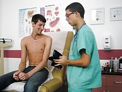 I had examine his cock in more detail so I decided to remove the rest of my clothes and lowered the exam table a bit piss gay twinks