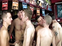 Little does this guy know one Saturday afternoon in the hotel bar will turn into the fantasy of his life as five sexy rough boyz have their way with h