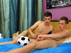 Boys in white socks having sex and masturbate cum - at Real Gay Couples!