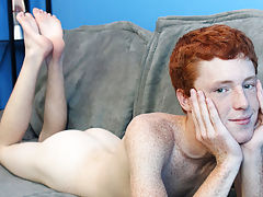 Cute Redhead Alan Parish lays back for a...