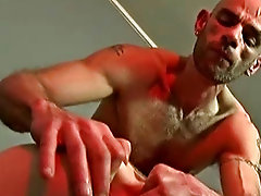 After a real sleazy, snog, spit and sloppy cock sucking session, Lewis Quentini starts to get his fingers on the job gay bondage poppers