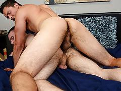 Interracial gay blowjob pictures and hardcore medium size penis pics