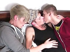 Emo straight boy wanking at Staxus