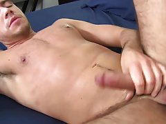 Leather gay blowjob and blowjob with a boy