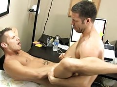 The desk squeaks along with Shane's moans as Tristan drills his ass with his thick dick bear men porn at My Gay Boss