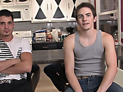 Richie continues and deep throats Reigner's cock through and over again as Reigner leans back in bliss hardcore gay sex in the office at Broke Co