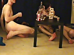 """ This is a long clip for u voyeur types who like the idea of watching these boyz get naked, drink, talk and play indecent games"