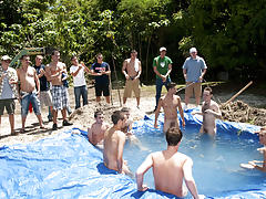 I mean its not embarrassing sufficiently playing in nature's garb in a nasty fake pool gay teen group sex