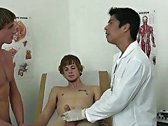 Mike instantly got hard and his cock kept on growing as Dr.Cooper started sucking on his dick and I held onto Mike's cock real life gay blowjobs
