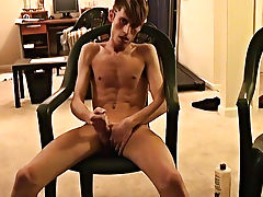 Jared is nervous about his first time wanking on camera men group masturbation - at Boy Feast!