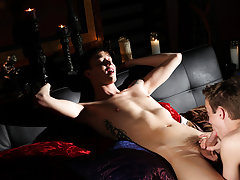 Handcuffed twink pubes shaved and old...