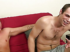 Circumcised twinks smoking and straight boys undress in locker room at Straight Rent Boys