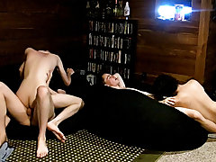 Man fucking speckled mare pussy and asian twink fuck mature man - at Boy Feast!