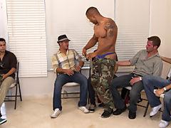 Gay group masturbation video and gay group shower at Sausage Party