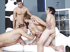 Guy sucking on black big old dicks and twink boys swimming naked at Staxus