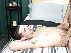 Ass anal faking gay and hairy tied men...