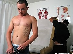 When he told me that I had a normal temperature, I turned back over and took a place on the present college guy cum shot