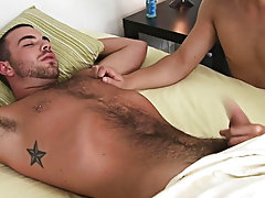 It didn't take him great to cum and he squirted that man goo all over his hairy stomach and rock tough abs masturbating toys for men