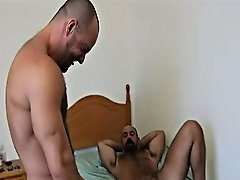 Carlo Cox arrives to give Butch his rental and is quickly invited in for a rub down naked man muscle at Alpha Male Fuckers