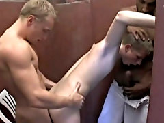 "The phrase ""spit roast"" doesn't do the law to the inches of rough raw cock this poor fellow has to manage with free interracial gay"