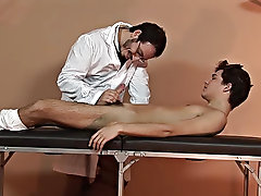 Watch the twink&#039;s cock shoot out sweet tap as the doctor was working on his excited sucker gay russian boys and men