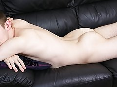 With one pass on working his shaft he uses his loosely  to play with his balls and it feels so honourable he explodes and shoots loads of Cum all over