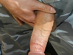 The fight for balls licking and gay dick sucking ends up in plastic threesome action where this military gay sex scene turns a soldier's ass into