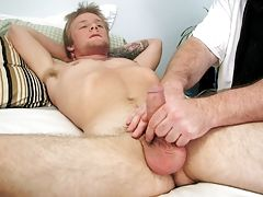 His cock reacted to my touch by throbbing and reaching for a vibrator straight men jerking  fre