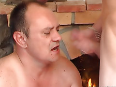 A guy leafs washing one&#039;s hands of a porn-ammunition when his old mature friend enters the apartments suddenly nude hunks and guys birthda