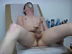 The Doc stroked my dick using lube and his gloves watersport fetish gay