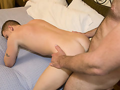 Gay rookie Luke came to us with his fantasy of being nailed via his favorite hung stud porn star, s