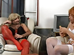 So Mature and Fernando do their best painstakingly applying correct-up and pulling up their colored even stockings and fine lacy panties longhaired nu