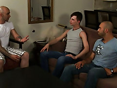Nathan is about to get his asshole plowed on Sam Swift's impressive cock while he gets his brashness filled to the overflow by Armando's stu