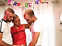 It all starts innocent enough but continue with spitting and cock slapping this three-way action gets harder and harder hottest bear chubby gay